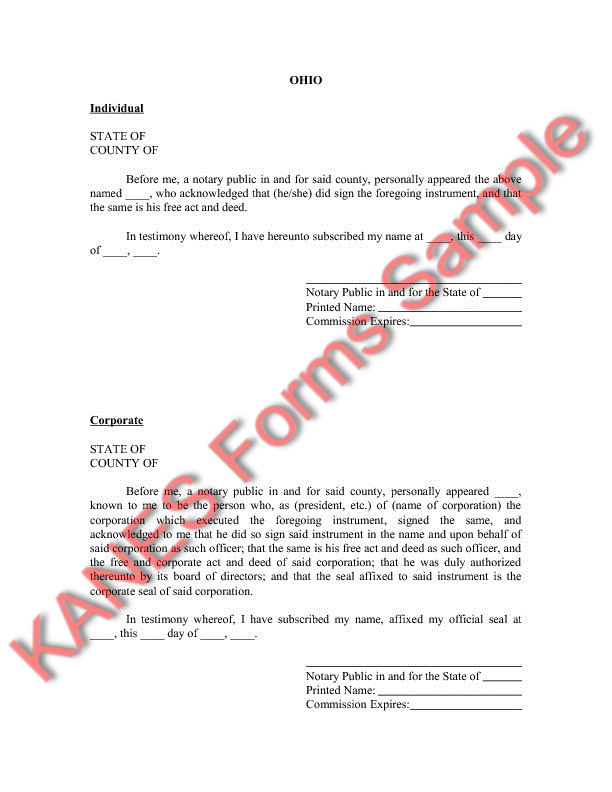 Basic Oil Gas Sample Forms And Master Index Version - Ohio legal forms