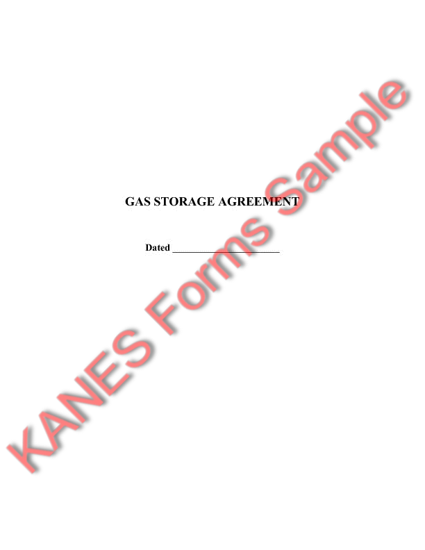 Gas Storage Agreement Between Facility Owner And Producer