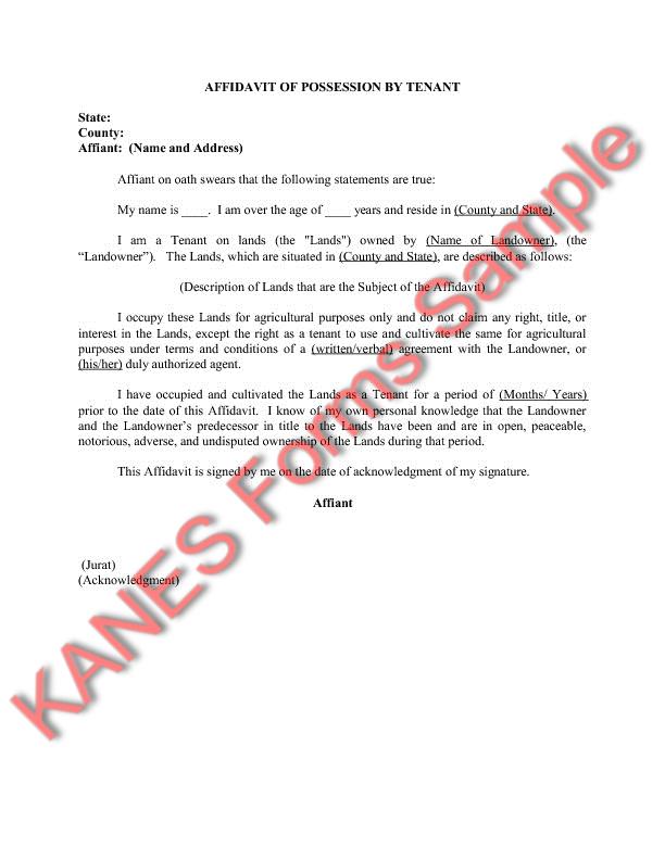 Affidavit Of Adverse Possession Texas Form Dolapgnetband