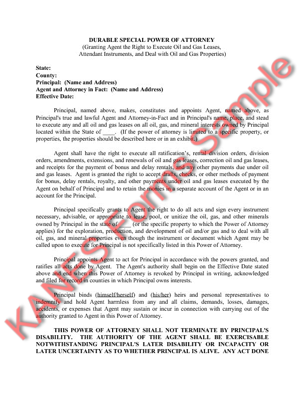 assignment of oil and gas lease to trust