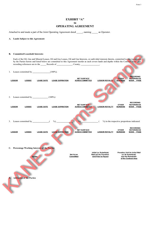 Operating Agreement Sample Forms And Master Index